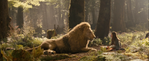Aslan and Lucy face to face