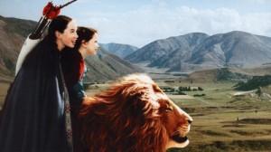 Aslan, riding Aslan, for blog