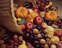 produce, autumn, cornucopia for blog