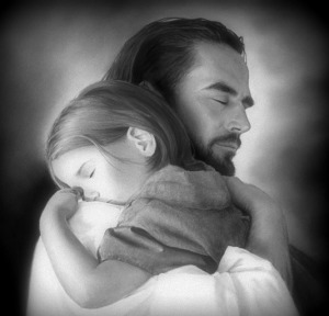 Jesus with child, blog. edited pg